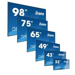 iiyama ProLite LH4982SB-B1 123,2cm (48,5 Zoll) IPS LED Großformat-Displayl Full-HD (VGA, DVI, 2xHDMI, DisplayPort, RCA, RS232, RJ45, IR, USB2.0, OPS-Slot, 24/7, Media playback, Daisy Chain) schwarz