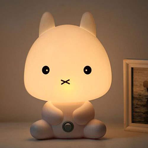liaobeiotry Panda/Kaninchen/Hund/Bär Cartoon Nachtlicht Kinderbett Lampe Nachtschlaf Lampe für Kinderzimmer Licht USB Aufladung -