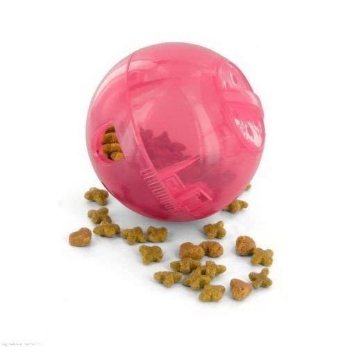 Multivet Slimcat jouet pour chat Balle et distributeur de nourriture–Rose