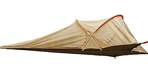 FREE SOLDIER Camping Hamac parachute avec pare-soleil et habillage pluie randonnée à suspendre Lit Tente de ciel (couleur de boue)