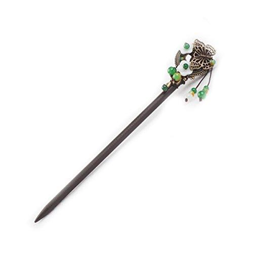 littledi Haarnadel aus Holz Chinesisches Haar Sticks Pin Haarspange mit Quaste Perlen Baumeln Retro für Frauen Mädchen Langes Haar Styling - Holz Geschnitzt Shell