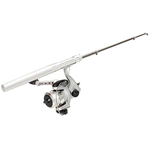 Espeedy Neu Teleskop Angelrute Pole Reel Mini Pocket Pen Typ mit Nylon Line Set