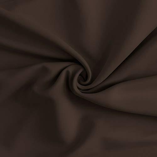 Morbidissimi Tessuto Oscurante al Metro per Tende Night h. 300 cm R347 Cioccolato
