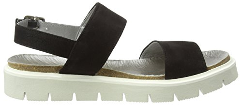 SHOOT - Shoot Shoes Sh-164446dd Damen Sommer Leder Sandale Chunky, Sandali Donna Nero (Nero (nero))