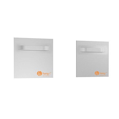 Spiegelbefestigung Set M - 2 Stück Spiegelbleche 100x100mm für das Aufhängen von Spiegeln, Alu-Dibond, Plexiglas Platten - Spiegelhalter