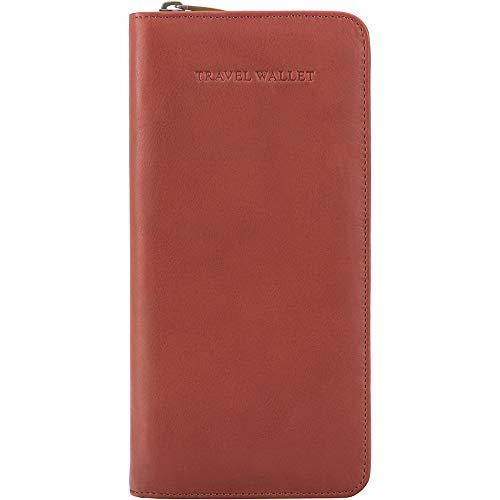 Leder Reise-brieftasche (Visconti Leder Unisex Reise Flug Brieftasche Polo Purse Wallet(1157):, Braun (Brown), X-Large)