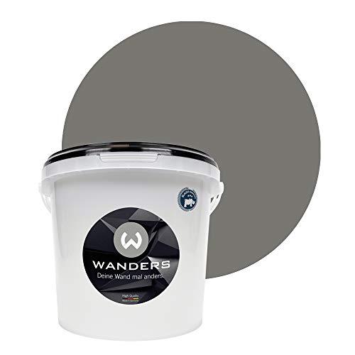 Wanders24® Tafelfarbe (3Liter, Beton-Grau) Blackboard Paint - Tafellack - abwischbare Wandfarbe - in 20 Farbtönen erhältlich - Made in Germany