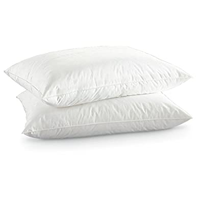 Lancashire Bedding - New White Goose Feather & Down Pillow Pair - Luxury 250 Thread Count 100% Cotton Cambric Fabric produced by Lancashire Bedding - quick delivery from UK.