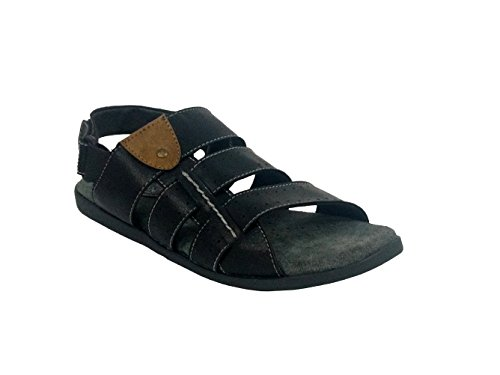 Fuzion Men's Black Sandal - 8 UK  available at amazon for Rs.499