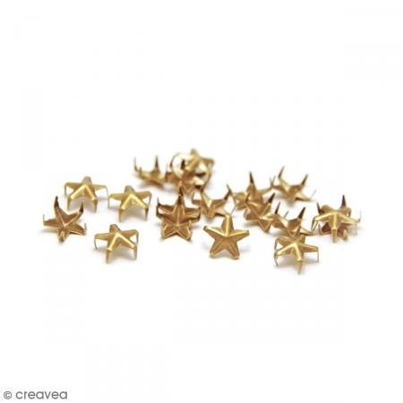 Ki Schild Fashion Star Nailhead Klauen, Gold, 8 mm, Hemdenknöpfe