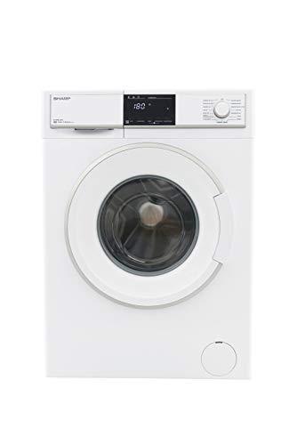 Sharp ES-HFB8143W3-DE Waschmaschine Frontlader / A+++ / 8 kg / 1400 U/min. / 15 Programme / 15 Min. Kurzprogramm / AllergySmart / Startzeitvorwahl 23 Stunden / AquaStop / Kindersicherung / weiß