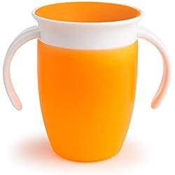 Munchkin Tasse d'apprentissage Miracle 360° - Orange - 207 ml