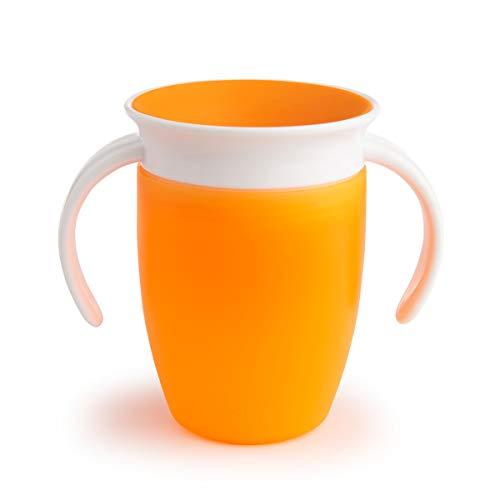 Munchkin Miracle 360ᵒ Trinklernbecher mit Griffen, orange, 1er-Pack (207 ml) -