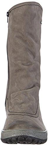 Manitu 980164, Bottes Classics de hauteur moyenne, doublure chaude femme Gris - Grau (asche)