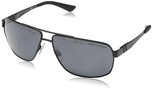 Polo Ralph Lauren Herren PH3088 Sonnenbrille, Schwarz (Matte Black 903881), One size (Herstellergröße: 65)