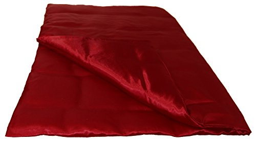 beties Glanz Satin Bettbezug ca. 135x200 cm anschmiegsam & edel (wählen Sie Ihren Kissenbezug + Spannbetttuch extra dazu) Farbe Karmin-Rot - Rot Bettbezug