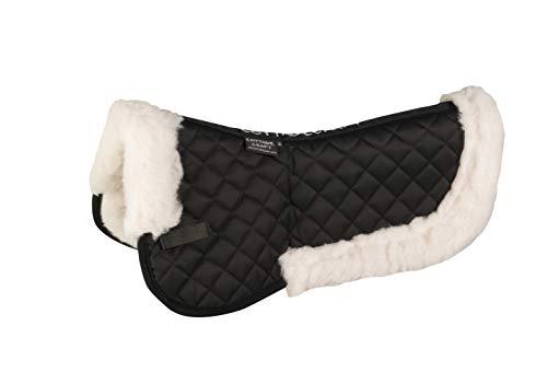 Cottage Craft Synthetic Wool - Manta/Sábana para caballo, color negro, talla Pony