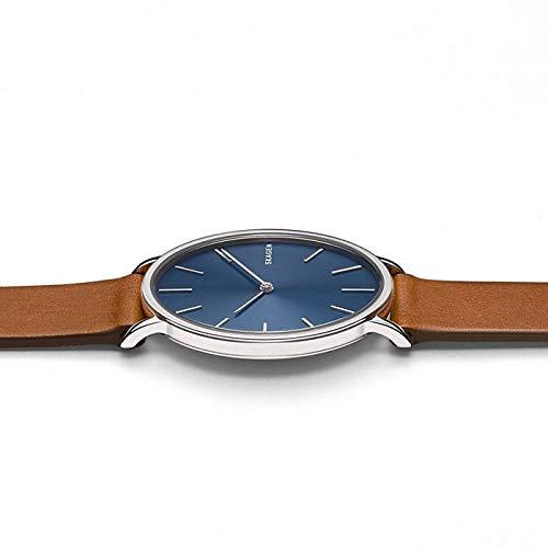Skagen Herren Analog Quarz Uhr mit Leder Armband SKW6446