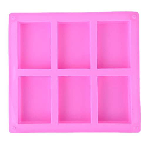 Cake Molds - 6 Cavities 3d Handmade Rectangle Square Silicone Soap Mold Chocolate Cookies Mould Cake Decorating - Steel Lamb Decorating Stainless Molds Inch Easter Ring Newborn Oven Silicon Square Chocolate Mold