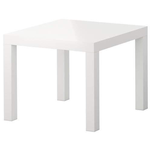 IKEA Lack - Mesa Auxiliar de café con Acabado Brillante, Mesa Cuadrada...