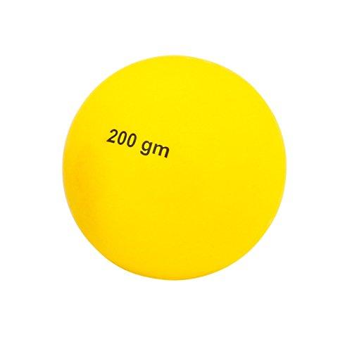 Ballwurf – Der Wettkampf-Wurfball 200 Gramm aus Kunststoff,Gelb