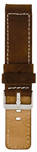 Oozoo Armband - Ersatzarmband für Oozoo Uhren etc. - 28 mm - Farbe : Dunkelbraun