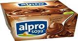 Alpro Soya Schoko-Dessert, 100 % pflanzlich, 4er Packung - 500gr - 6x