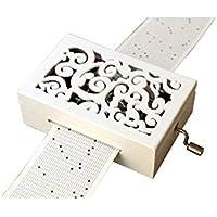 Cuzit Make Your Own - Caja de música para manualidades (madera, 30 notas), color blanco