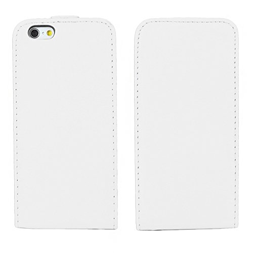 "ebestStar - pour Apple iPhone 6S 6 Plus écran 5,5"" - Housse Coque Etui à rabat PU cuir ULTRA FIN (ultra slim case) + Stylet tactile + 3 Films protection écran, Couleur Blanc [Dimensions PRECISES de vo Blanc"