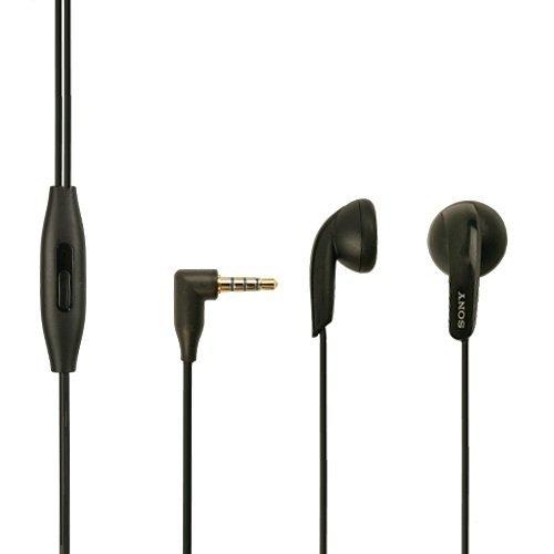 Compact Headset (Original Sony Mobile Headset MH-410C schwarz für Sony Xperia Z Kopfhörer Ohrhörer Stereo)