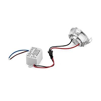 Einbauleuchten10Stück hohe Qualität gebürstetes Metall, Mini LED-Spot 3W