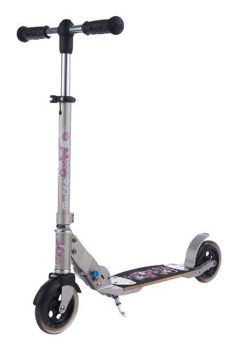 Preisvergleich Produktbild Micro Scooter Lady Flex Tretroller mit 145 mm Rollen mit Blumen