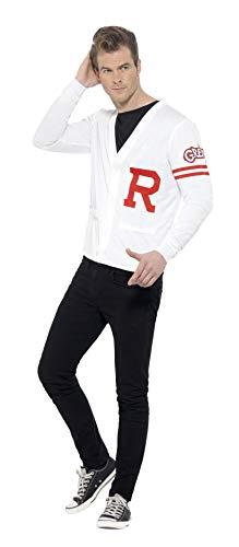 Kostüm Grease Einfach Sandy - Smiffys 42898M - Herren Rydell Kostüm, Grease, Größe: M, weiß