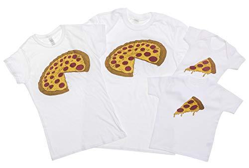 Pizza Mens T Shirt (White, Dad L)