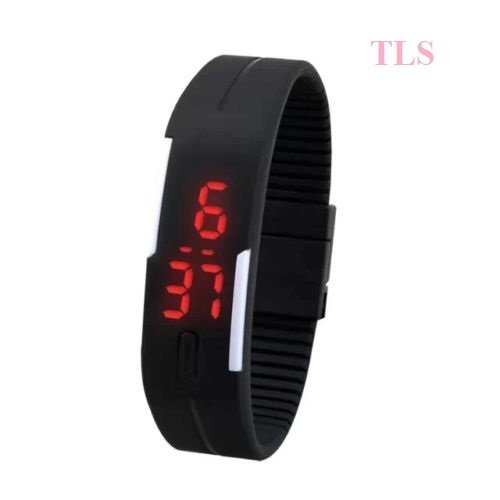 BUY ONE GET ONE OFFER BUY TLS UNISEX TPU BAND RED LED DIGITAL WRIST WATCH AND GET ONE FREE