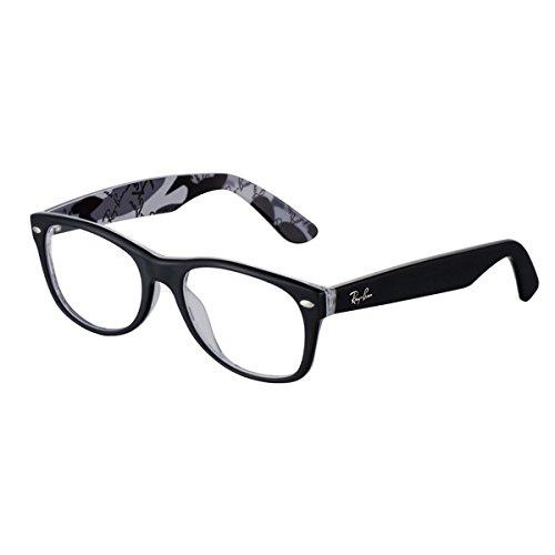 Ray-Ban Unisex-Erwachsene Brillengestell New Wayfarer, Schwarz, 52