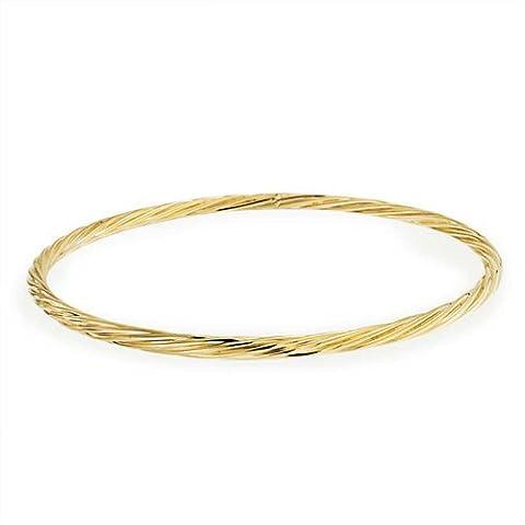Bling Jewelry Tube torsadée empilable Bracelet bracelet or