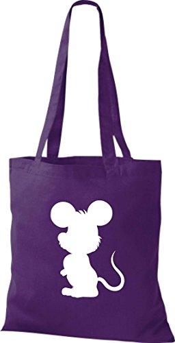 Crocodile souris nagetier pochette, sac shopper sac à bandoulière plusieurs couleurs Violet - Violet