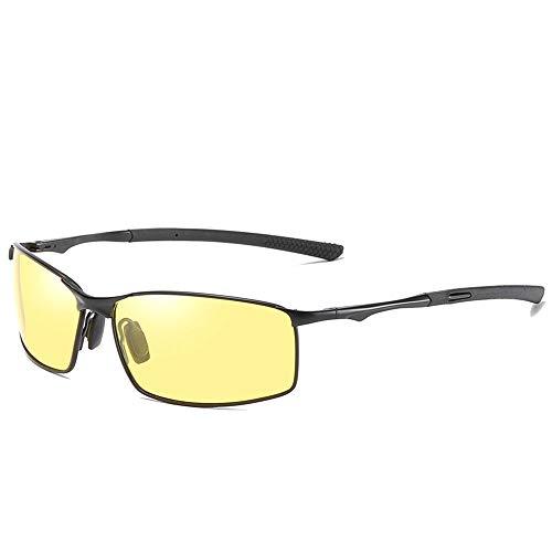 @Y.T Polarisierte Sonnenbrille Herren Sonnenbrille Farbwechselbrille Nachtsichtbrille,G
