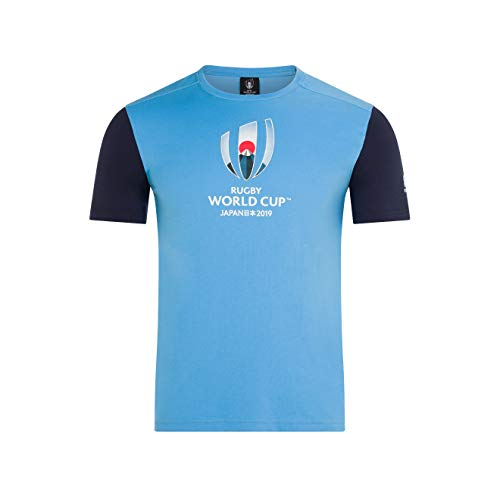 669f5db7d68c1 Canterbury Men's Official Rugby World Cup 2019 Cotton Jersey Graphic T-Shirt,  Laxa Blue