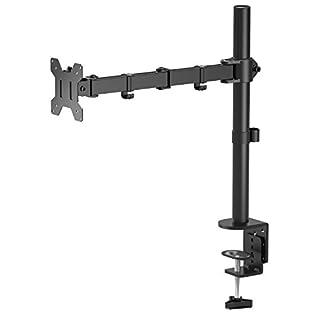 """1home Triple Arm Desk Mount Ergonomic LCD LED Computer Monitor Bracket Stand Tilt Swivel Rotation 13""""-24"""" Screen TV"""