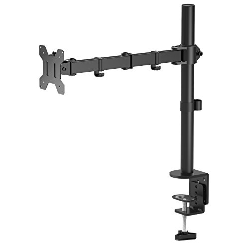 "1home Single Arm Desk Mount LCD LED Computer Monitor Bracket Stand 13""-27"" Screen TV"