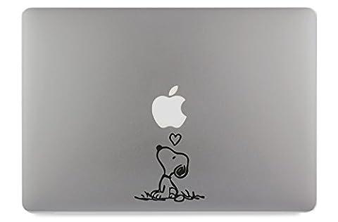 Hund Strichzeichnung Apple MacBook Air Pro Aufkleber Skin Decal Sticker Vinyl (13