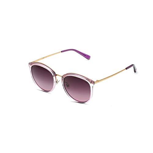 KEHUITONG Sonnenbrille, weibliche polarisierte Sonnenbrille, super leichte UV-Sonnenbrille, hohe Qualität, Hohe Qualität (Color : Purple)