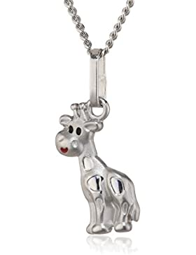 ZEEme Kinder und Jugendliche Halskette 925 Sterling Silber rhodiniert Acryl  500244350