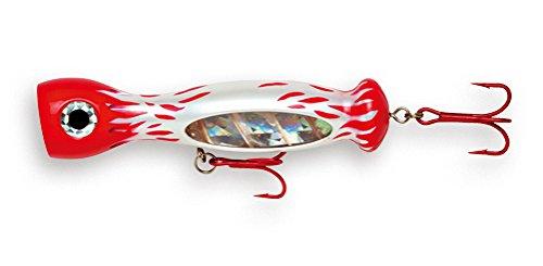 Williamson Jet Popper 07Angelköder, Unisex - Erwachsene, Red White Flame, 7