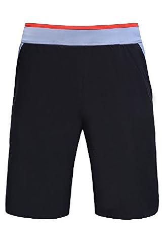 Gym pour hommes et shorts de course par Sundried® - Shorts d'exercice d'entraînement noir (X-Small)