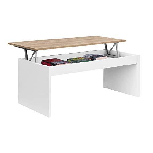 Habitdesign 0F1638BO - Mesa de Centro elevable Modelo Zenit, mesita Mueble Salon...