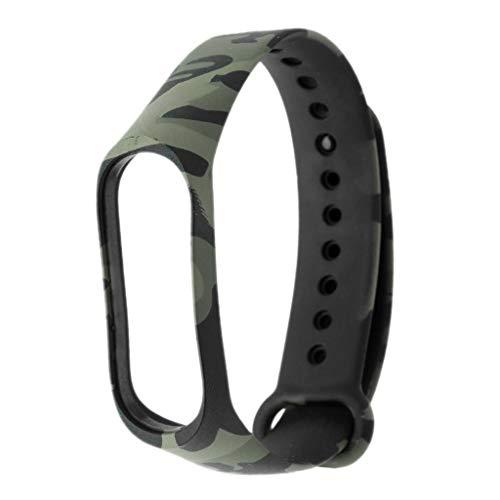 i Mi Band 4, Camouflage Printing Sport Silikonband mit Silikon Rahmen, Langlebig,Wiederverwendbar,Kreativ Armband Silikon Replacement Ersatzarmband für Damen Herren (D) ()