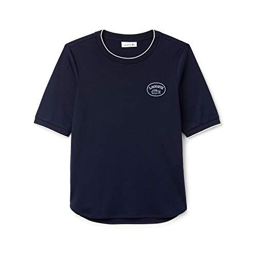 Lacoste Damen T-Shirt Tf8804, Blau (Navy Blue/Flour Hhw), 34 (Herstellergröße: 36)